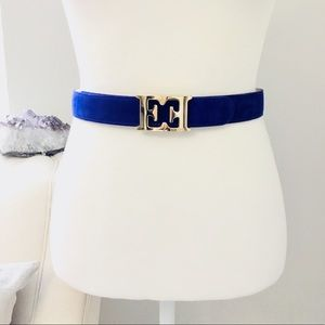 Escada signed double E logo suede belt